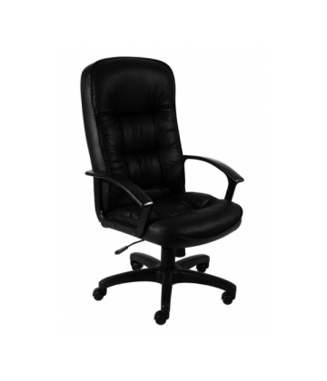 King Leather Faced Managers High Back Chair