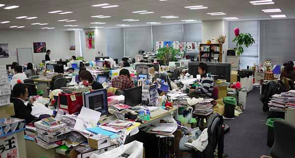 Cluttered Messy Office