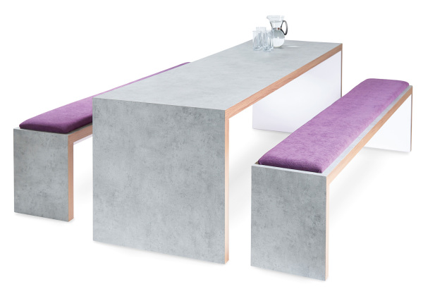 Slab Table Bench